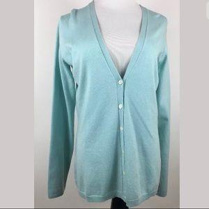Tommy Bahama Womens SMALL 4/6 Blue Cardigan Silk